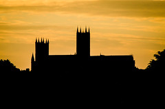 Fire Sky (Sweeting Thorns) Tags: lincoln cathedral church blessed virgin mary canwick hill old cemetery silhouette shadow outline sunset sky orange place worship tower spire pinnacle skyline landscape rural christian christianity england religion religious