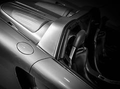 PORSCHE (Dave GRR) Tags: porsche supercar hypercar fastcar toronto auto show 2018 monochrome mono silver sportscar olympus