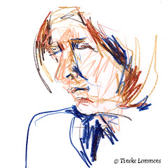 Scribble-portrait 8 (Tineke Lemmens) Tags: tinekelemmens portraits colored pencils