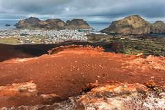 Blick vom Vulkan Eldfel auf Vestmannaeyjabær (Chriss_UN) Tags: island iceland vestmannaeyjabær vestmannaeyjar eldfel vulkan insel
