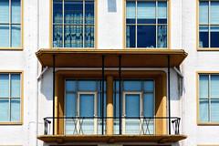 blij dat ik hier was (roberke) Tags: ramen vensters windows doors deuren balkon balcony sun sunlight zonlicht zon schaduw shadow geel yellow white wit architecture architectuur facade gevel gebouw building