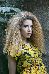 It's Gaia - 6 (diemmezeta) Tags: girl portrait photo photoshooting photoshoot pose posing model models modelling woman donna beautiful hair blonde blondecurlyhair curly amazing etherocromia 2differentcoloredeyes outdoor color colors ambiente natura nature