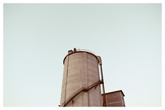 Solid : Strength (Storyteller.....) Tags: solid tower silo power strength sky grey architecture building old ladder high