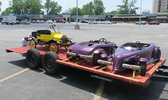 Picking up the new car (Hear and Their) Tags: model t prowler minicar go kart gokart
