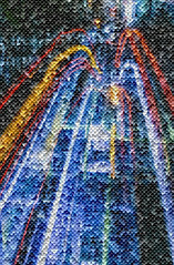 buy out bubbles (pbo31) Tags: mosaic manipulation california bayarea nikon d810 color july boury pbo31 2018 summer muni lightstream bus financialdistrictsouth roadway pattern sanfrancisco city