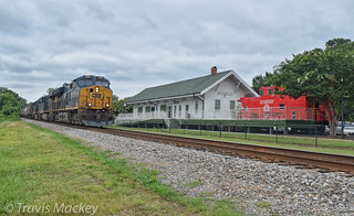CSX V391-06 at the old SAL Depot in Matthews