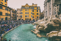 Fontana di Trevi (8230This&That) Tags: europe italy mediteranean rome ancientruins art culture history ruins street streetpeople fontanaditrevi fountain goodluck statues oldworld roma coinsinthefountain trevifountain baroque threecoinsinthefountain lazio it