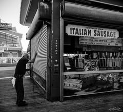 Opening Shop (MTR70) Tags: boardwalk streetphotography man blackwhitephotos blackandwhite photojournalism street jerseyshore