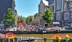 Summer in the city (Peter ( phonepics only) Eijkman) Tags: amsterdam city canals grachten gracht zomer summer nederland netherlands nederlandse noordholland holland