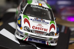 My New Collection  Toyota Corolla WRC  Rally Australia 1999  #CarlosSainz ⭐12/04/1962 (WRC 1987)  #LuisMoya ⭐23/09/1960 (WRC 1988)  #Michelin #MoviStar #castrol #sparco #ohlins #1424km #396kmph 🐎300  #UnderLicense #OfficialLicense (KIMI KANTA) Tags: underlicense castrol 1424km luismoya sparco michelin ohlins movistar 396kmph carlossainz officiallicense australia rally 1999 subelt 3 100years toyota corolla denso