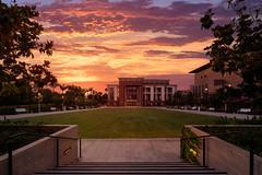 Musco Hall (RyanLunaPhotography) Tags: architecture california chapman fuji fujifilm musco orange orangecounty socal university xt2 sunset