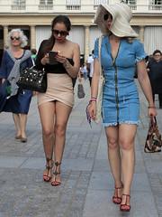 Girlfriends on a walk (pivapao's citylife flavors) Tags: paris france people louvre girl beauties