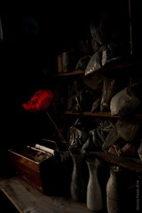 poppin in Nederland, 1600 (simone.pelatti) Tags: poppin still life dark oil painting