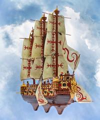 The Bellonatus (Mark of Falworth) Tags: lego airship creation mark of falworth moc ship sail cannon warship