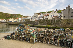 Staithes harbour, North Yorkshire (Keartona) Tags: staithes harbour fishing creels lobsterpots nets traps tourism travel landscape houses cottages village northyorkshire yorkshire coast uk spring