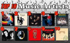 Top 10 Musical Artists (Captain Luigi) Tags: top 10 bands music artists