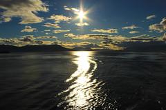 Alaska (Den Gilbert) Tags: alaska ketchikan usa america insidepassage sun evening lastlight light sea water ocean mountain hills landscapes clouds sky reflection photography dusk ripples