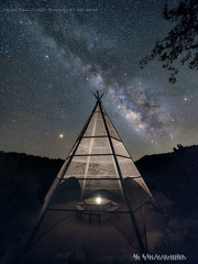 Teepee 2 (jamesclinich) Tags: dickens texas tx teepee picnictable milkyway nighttime stars sky landscape lowlevellighting tripod olympus em10 mzuiko714mmf28pro adobe photoshop topaz denoise detail clarity sequator stacked jamesclinich