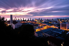 Dawn breaking fast (ajecaldwell11) Tags: xe3 sunrise ankh purple water fujifilm light artdeco longexposure hawkesbay newzealand napier sky clouds caldwell architecture dawn