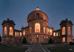 (Simone Vanelli) Tags: italy sunset light twilight italia tramonto crepuscolo bologna chiesa church san luca architecture