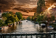 Sunset Canal in Amsterdam - Digital Oil Painting (FotoReedus) Tags: water city river nature canal tree reflection lake sunset boat building evening outdoors bridge landscape house town waterway outdoor flora jar travel plant bodyofwater pottedplant amsterdamcanal digitaloil digitalpainting netherlands oilsunsetcanal oilpainting amsterdamart iamsterdam amsterdamcanals