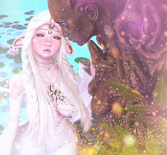 Last Unicorn Meets Lady Of The Lake! (.❤.ρµmþkïñ.❤.) Tags: fantasy unicorn pale thelastunicorn secondlife 2endlife avatar equal10 cute kawaii