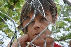 DSC_2167 (griecocathy) Tags: portrait miroir brisée arbre végétations ciel visage déformé reflet mosaïque