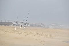 The Fishing Poles (meg21210) Tags: beach sand houses poles fishingpoles kittyhawk nc obx outerbanks northcarolina seashore fog morning