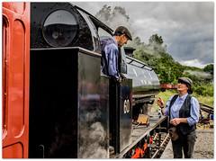 Ready for the off (Blaydon52C) Tags: tanfield railway steam industrial rail railways trains train locomotive locomotives loco steamengine marleyhill sunniside gateshead durham
