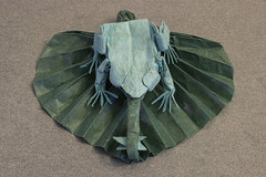 Yum (Kevin Hutson) Tags: origami paper folding box pleating fly lily pad frog