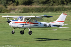G-AWUN - 1968 Reims built Cessna 150H, arriving on Runway 26L at Barton, part of the LAA 70th Anniversary Tour (egcc) Tags: 0377 150h barton ce150 cessna cessna150 cityairport egcb f150h gawun gawungroup lightroom manchester reims laa70thanniversarytour