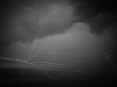 Summer Thunderstorm (rm005759) Tags: summer travel sky clouds lightning thunderstorm blackwhite blackandwhite bw nature shotoniphone