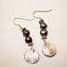 Precious metal clay earrings with pearls