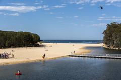 wattamolla beach (Greg Rohan) Tags: helicopter surf swimming bathers people clouds sky ocean sea water nationalpark royalnationalpark southcoast nsw australia wottamollabeach wattamolla beach sand d750 nikon nikkor 2018 tree shore bay