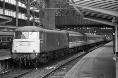 81005 at Manchester Piccadilly (Bingley Hall) Tags: transport train transportation trainspotting rail railway railroad locomotive engine electric uk england britain manchester 81005 25kv ac overhead station piccadilly britishrail blue br al1