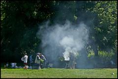 Moers - Zur Alten Wassermühle (abudulla.saheem) Tags: barbecue smoker smoke grill park schlosspark zuraltenwassermühle moers nrw germany deutschland panasonic lumix dmctz101 abudullasaheem