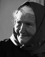 IMG_2937 (andreea_muntean) Tags: portrait woman older old blackandwhite sadness grandmother hdr