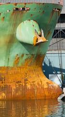 Waterline 2 (Gene Mordaunt) Tags: waterline water freighter rust green toronto sugarbeach redpathsugar nikon810