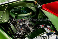 Green Plymouth Engine (quali_tsnapshots) Tags: sandiego california classic show green plymouth hood engine chrome socal blackfemalephotographer female photographer canon