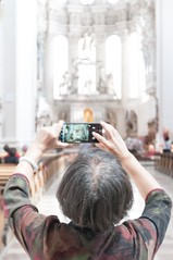 The Tourist (roetzi24) Tags: germany deutschland bayern bavaria dom chat cathedral camera tourism sightseeing passau curch kirche