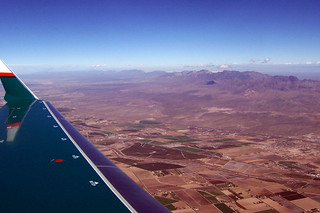 overflying Mesquite, New Mexico - approaching Anthony Gap