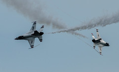 Criss cross (LEXPIX_) Tags: lexpix 200500 d500 nikon afb westover airshow england new great 2018 demo f16 demonstration preflight thunderbirds usaf opposing crossover criss cross flyby