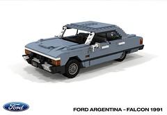 Ford Argentina - Ford Falcon 1991 (lego911) Tags: ford do argentina falcon 1991 1990s classic retro south america auto car moc model miniland lego lego911 ldd render cad povray foitsop