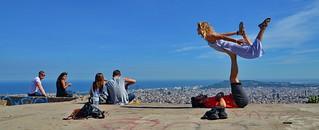 Flying high over Barcelona