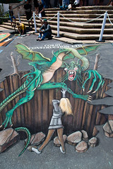 I Madonnari Dragon (- drsteve -) Tags: i madonnari street painting festival santa barbara mission dragon perspective illusion girl attitude