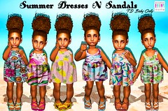 Summer Dresses N Sandals (akaishatalented) Tags: vibrantcolor tranquilscene blue turquoisecolored tropicalclimate climate sunlight day summer sand beach sun sea thimble toddleedoo baby