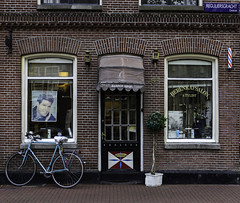 Barber shop (JLM62380) Tags: barbershop barber shop amsterdam paysbas bicycle bricks windows door house stylist