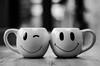 Smiles Again!! (BGDL) Tags: lightroomcc nikond7000 nikkor50mm118g bgdl niftyfifty blackandwhite kitchen smileymugs 7dos