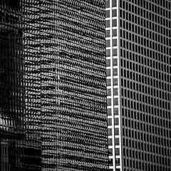 Walk the Line (Thomas Hawk) Tags: america chitown chicago chicagoarchitecturerivercruise chicagoriver illinois usa unitedstates unitedstatesofamerica architecture bw us fav10 fav25 fav50 fav100
