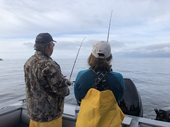Cory & Nancy Brown Sport Fishing Waterfall Resort Alaska (Nancy D. Brown) Tags: waterfallresort alaska sportfishing fishing salmonfishing deepseafishing pacificocean nancydbrown corynbrown travelblogger travelwriter